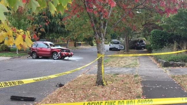 Driver dead after car crashes into vehicles on street near Eugene